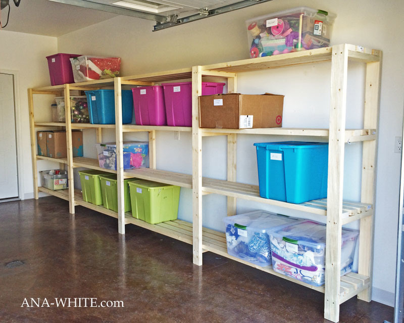 freestanding garage shelving easy diy