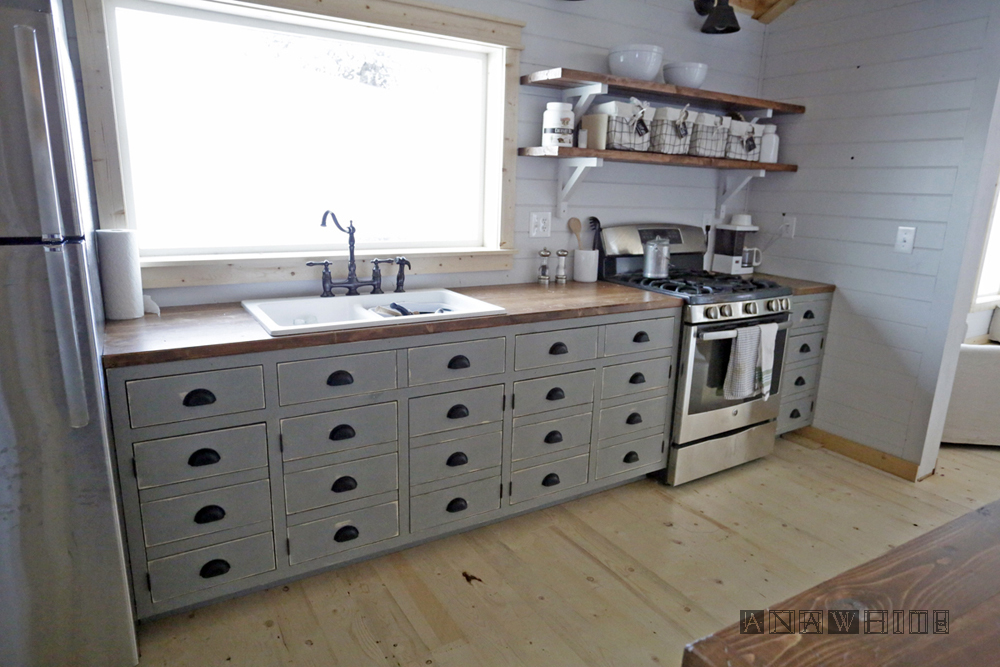 Diy Apothecary Style Kitchen Cabinets Ana White