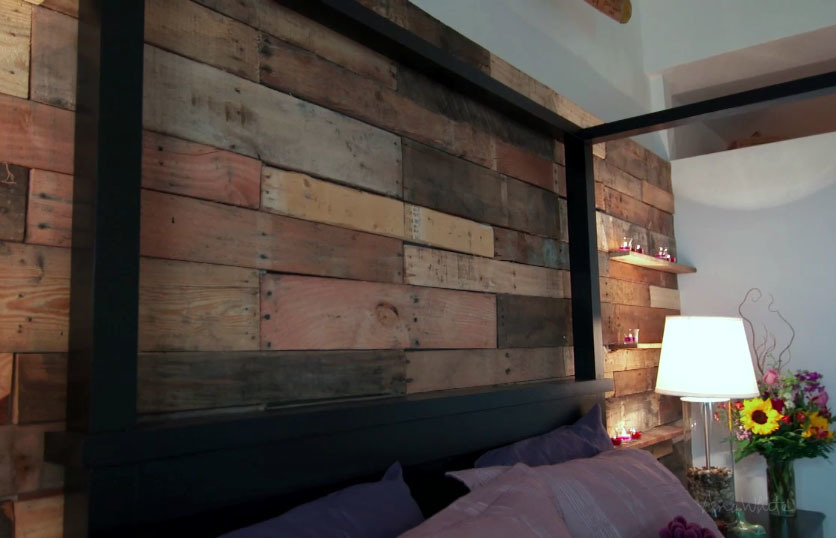 Ana white pallet wall from hgtv saving alaska diy projects - Easy to make furniture ideas ...