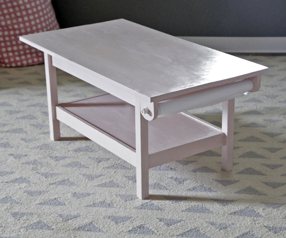 Ana White How To Simple Kids Pine Play Table With Paper Roll
