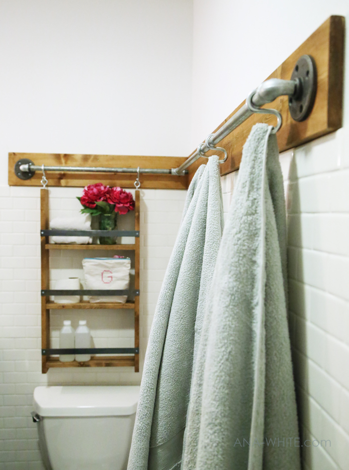 For Now I M Just Using The S Hooks To Hang Towels Off Of But D Like Maybe Add A Few More Components Too And Also Design