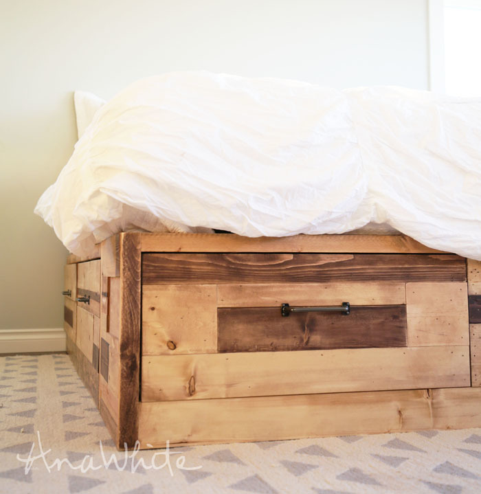 An error occurred. - Ana White Brandy Scrap Wood Storage Bed With Drawers - DIY Projects