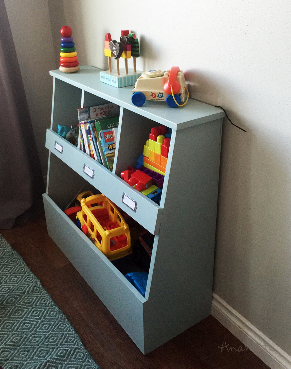 ... Of Telling Your One Year Old To Throw His Toys In A Big Wood Box   But  On Top Thereu0027s Smaller Storage Cubbies So You Can Organize Littler Toys.