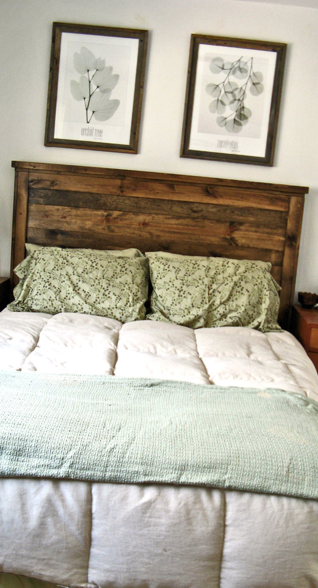 ana white  first project reclaimed wood look queen headboard, Headboard designs