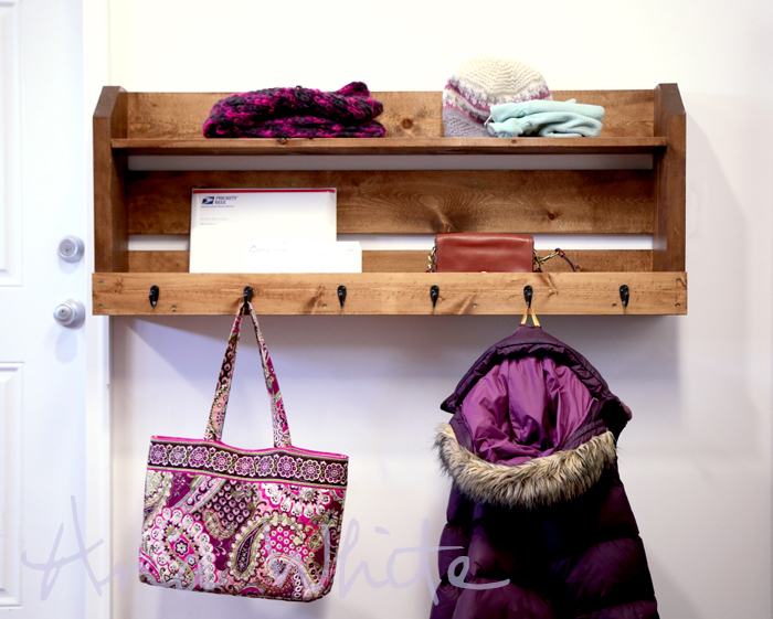 Ana White Small Pallet Inspired Coat Rack With Shelves DIY Projects Amazing Making A Coat Rack