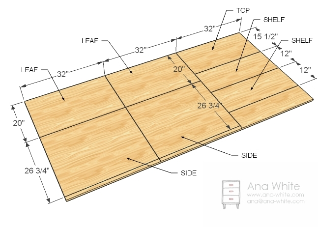 quilting cutting table plans