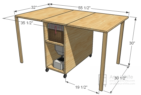 Small Sewing Table