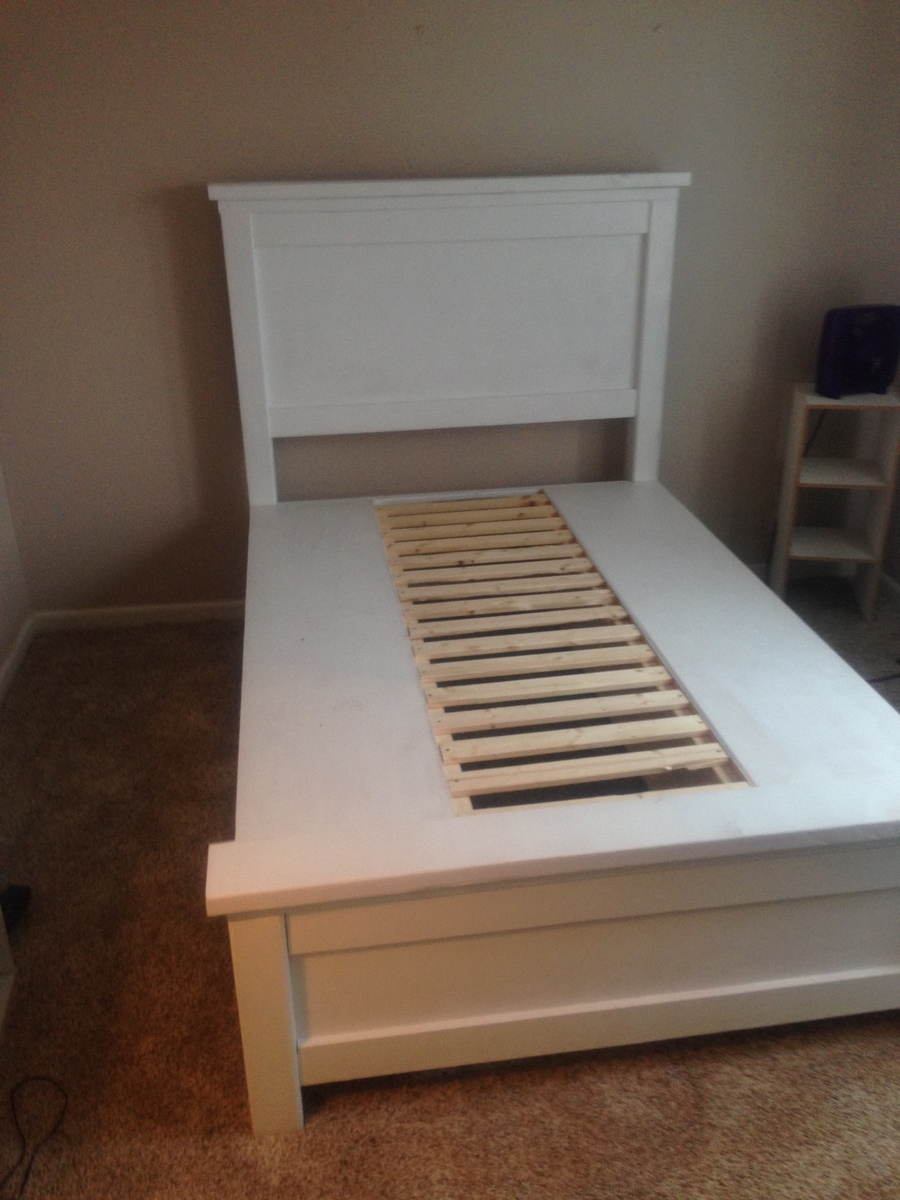 storage bed with slats