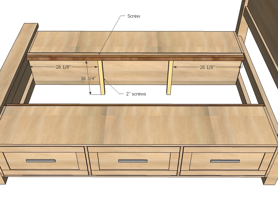 woodworking plans for a king size storage bed | woodproject