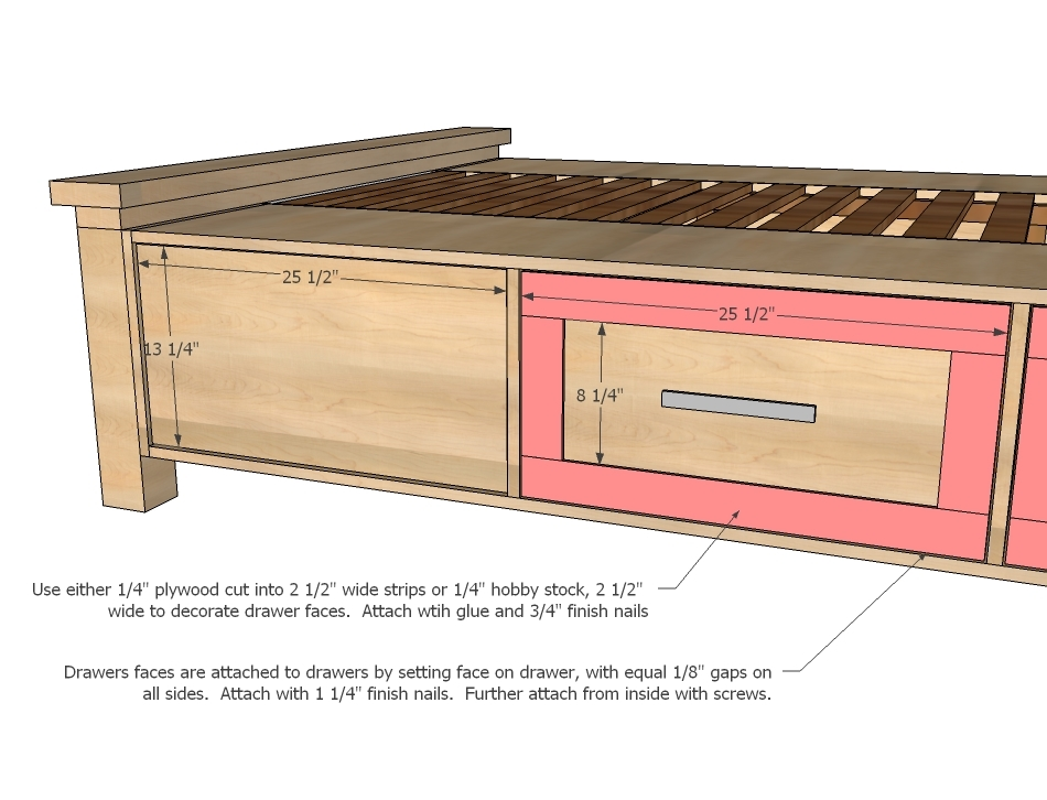 Ana White | Build a Farmhouse Storage Bed with Storage Drawers | Free ...