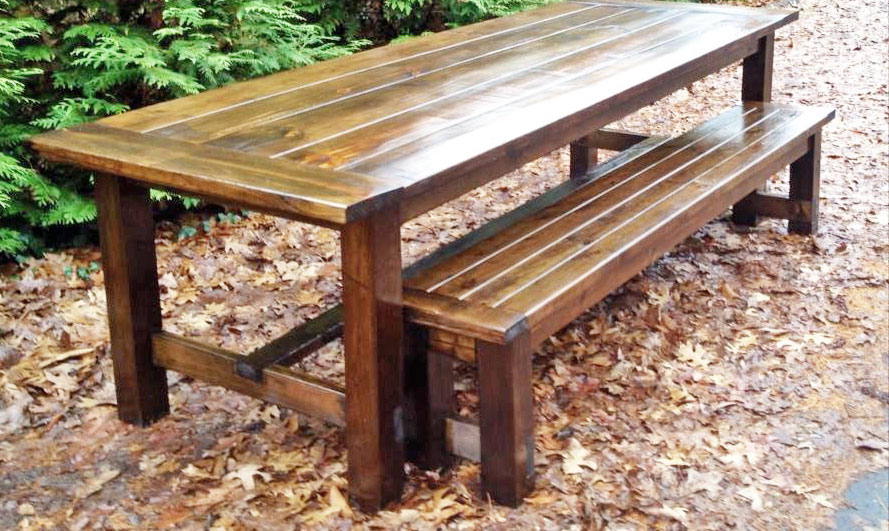 Farmhouse Bench No Pocket Holes Version Ana White