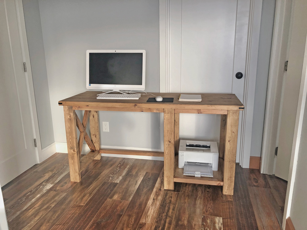 Rustic X Desk Ana White