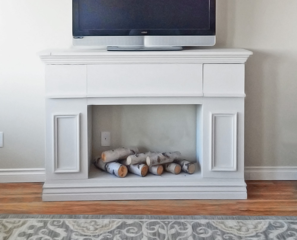 Faux Fireplace Cabinet With Hidden Storage Ana White