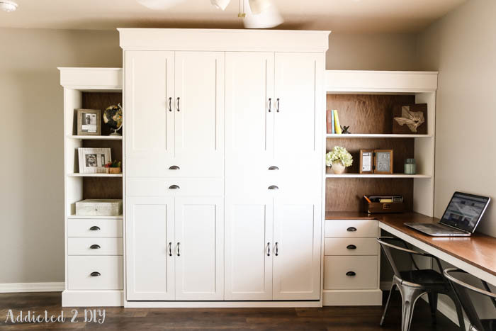 Modern Farmhouse Murphy Bed And, How To Build A Murphy Bed With Sofa Free Plans