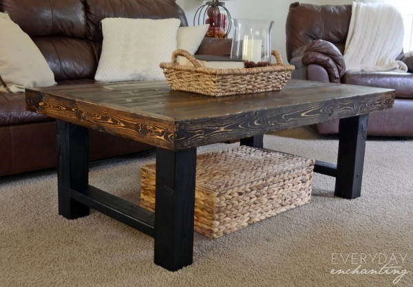 Simple Wood Slab Coffee Table - Featuring Remodelaholic and Everyday ...