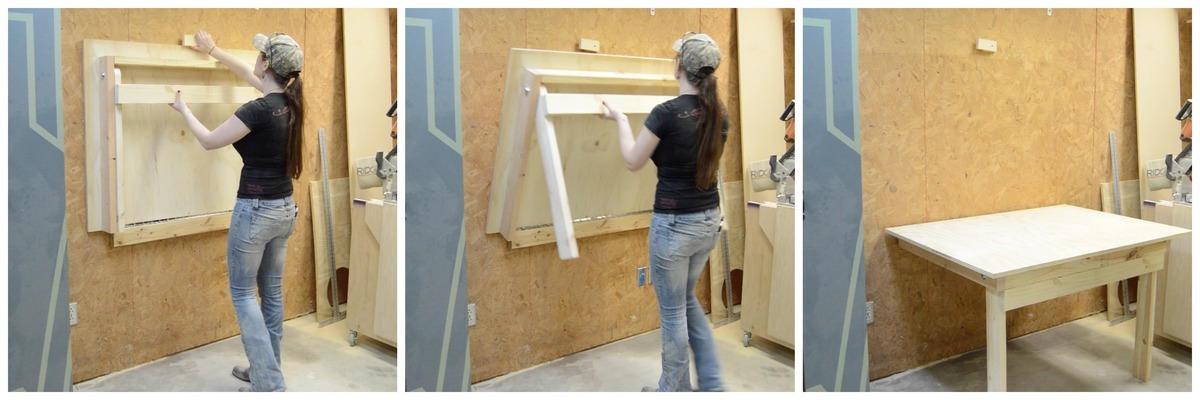 Fold Down Workbench Featuring Wilker Dos Ana White - How To Build A Fold Down Work Table