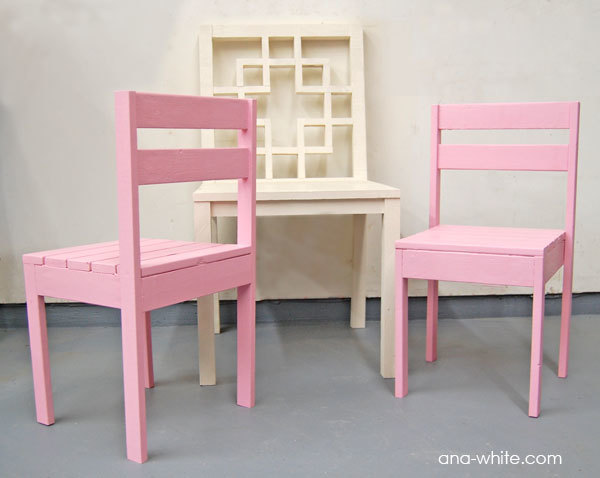 kids chairs plans