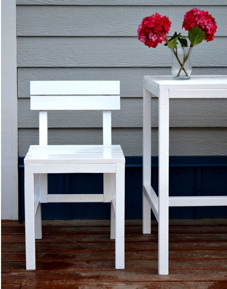 Ana White Harriet Outdoor Dining Chair for Small Modern  : free outdoor chair plans 3 from www.ana-white.com size 450 x 573 jpeg 52kB