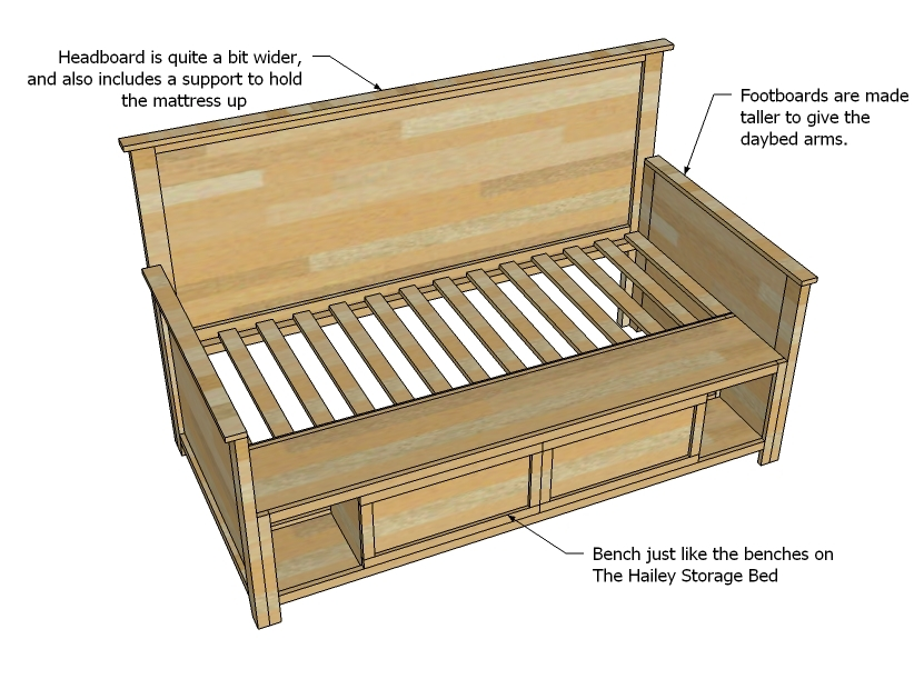 twin bed plans twin bed frame plans with drawers mid century bed ...