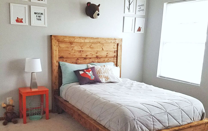 planeked wood headboard plans
