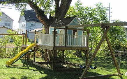 Ana white playhouse gable end walls diy projects for Tree playhouse plans