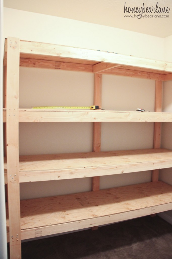 Plans for Freestanding Storage Shelves