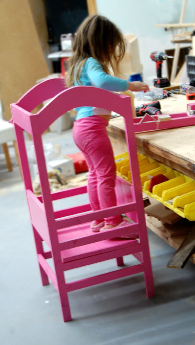 Child kitchen helper stool