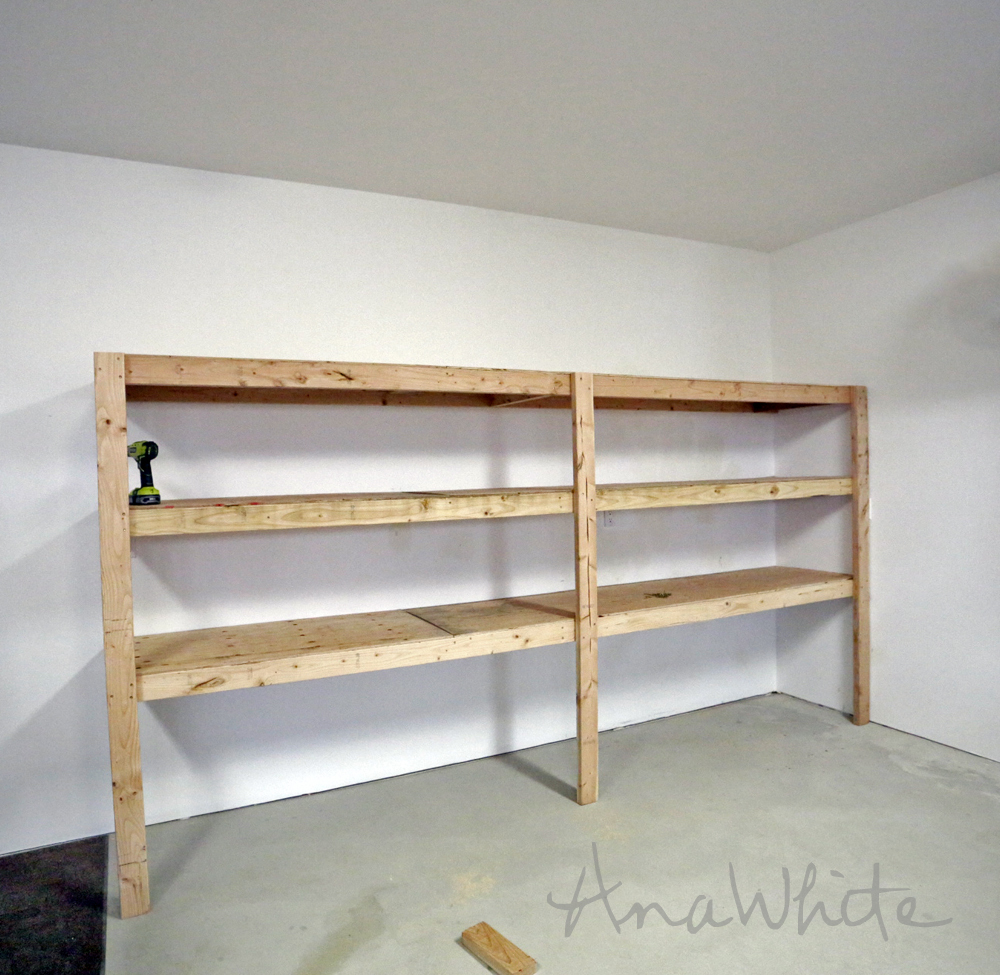 Fantastic Best Diy Garage Shelves Attached To Walls Ana White Home Interior And Landscaping Eliaenasavecom