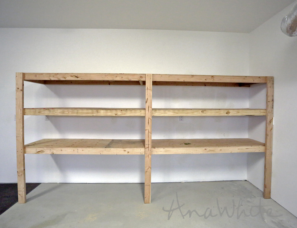 Wondrous Best Diy Garage Shelves Attached To Walls Ana White Beutiful Home Inspiration Ommitmahrainfo