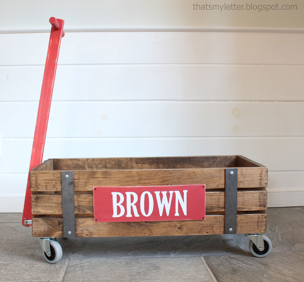 how to build a wooden wagon for kids