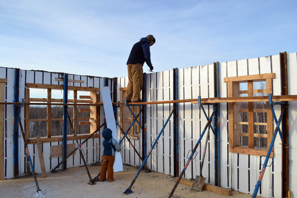 Pouring upstairs icf walls ana white woodworking projects for Icf block