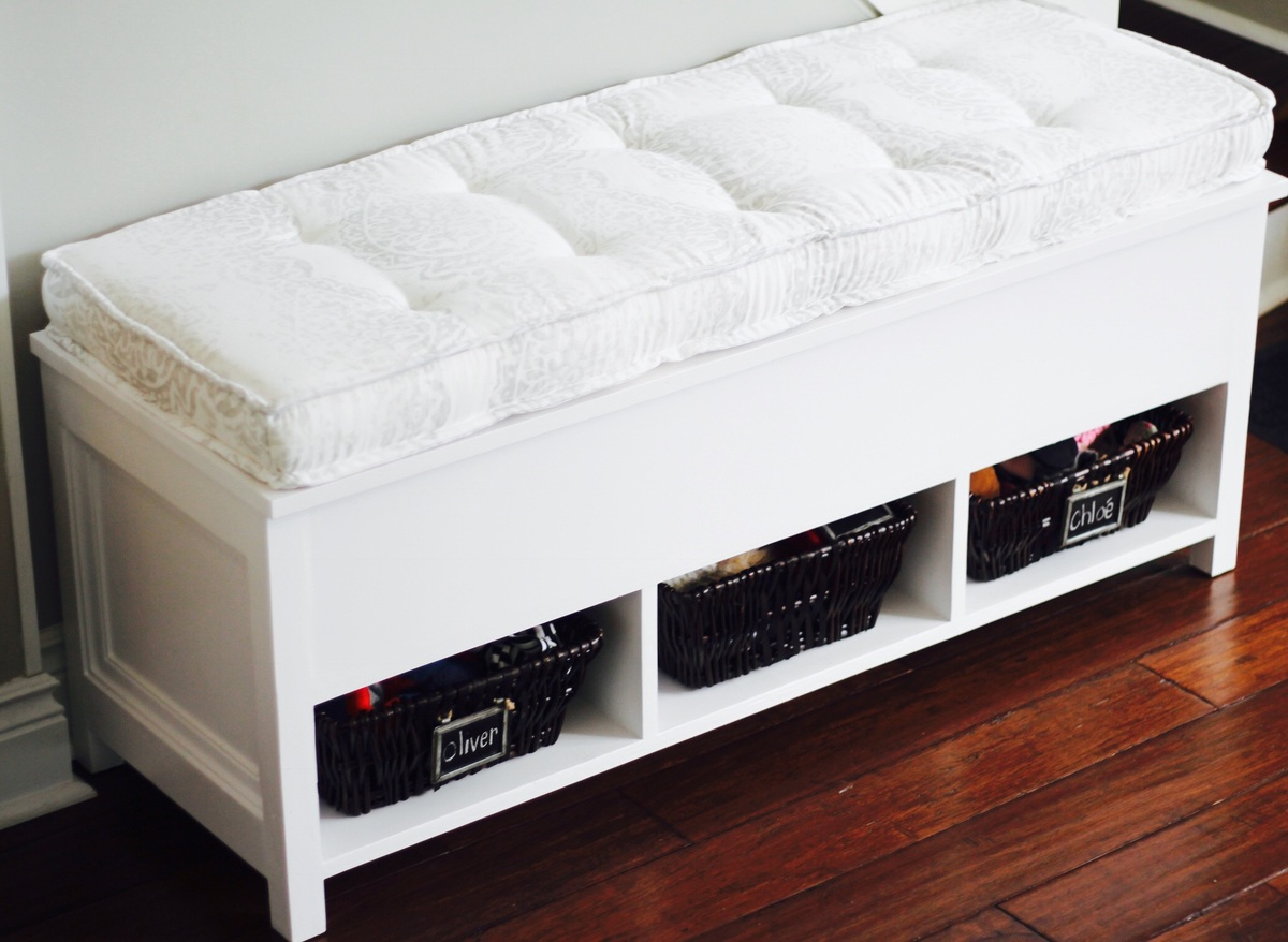 flip up storage bench with cubbies