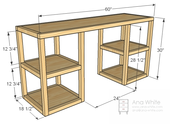 ... Parson Tower Desk | Free and Easy DIY Project and Furniture Plans