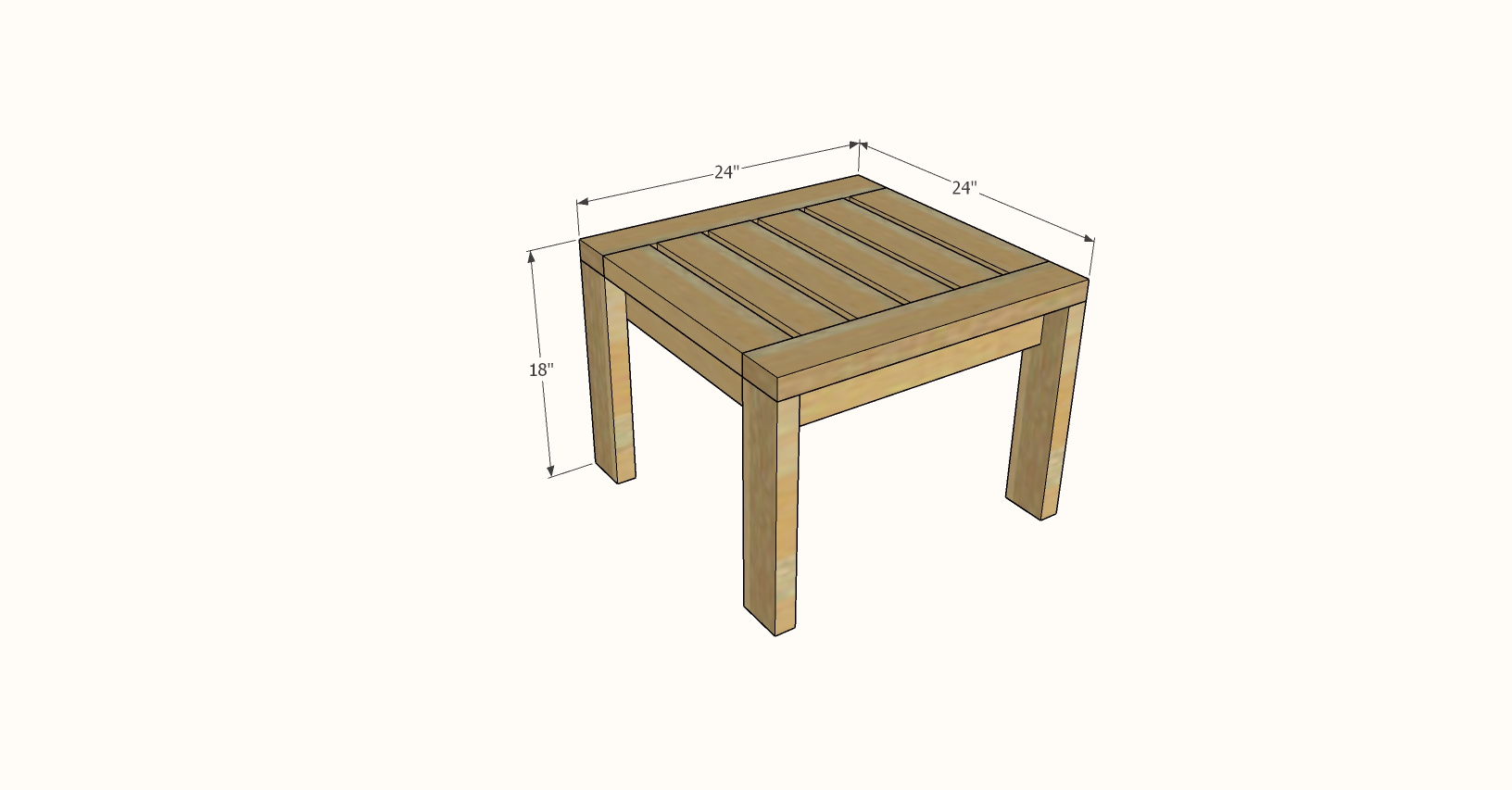 outdoor end table dimensions