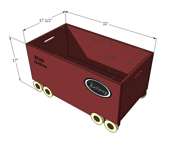 toy box dimensions