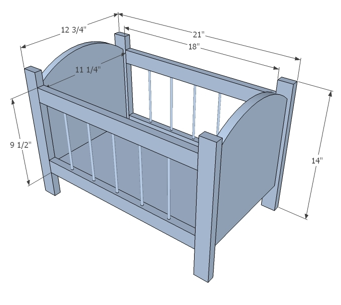 DIY Baby Crib Plans Dimensions Plans Free