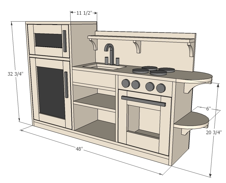playhouse kitchen plans