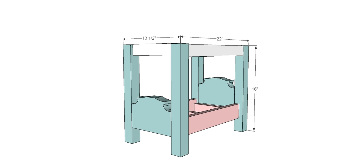 American Doll Canopy Bed Plans