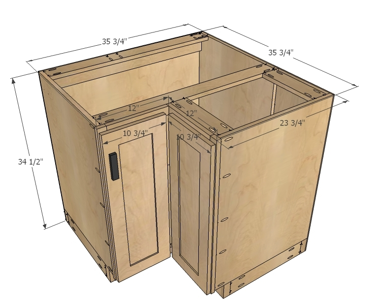 kitchen cabinets plans dimensions