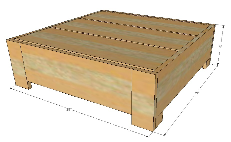 plans outdoor coffee table