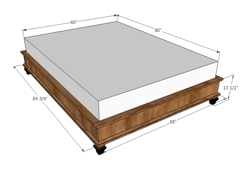 Diy Platform Bed Frame Plans, Apr... - Amazing Wood Plans