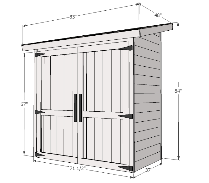 small shed dimensions