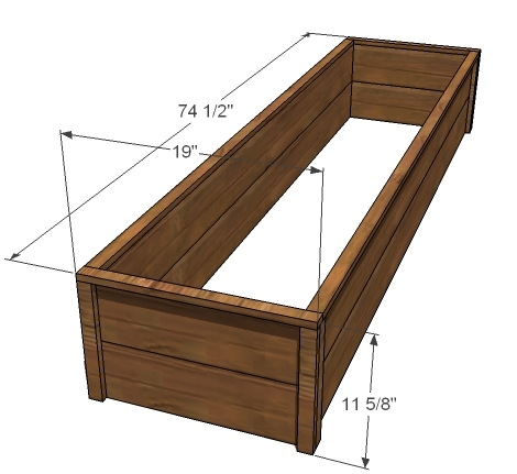 dimension diagram of cedar raised beds