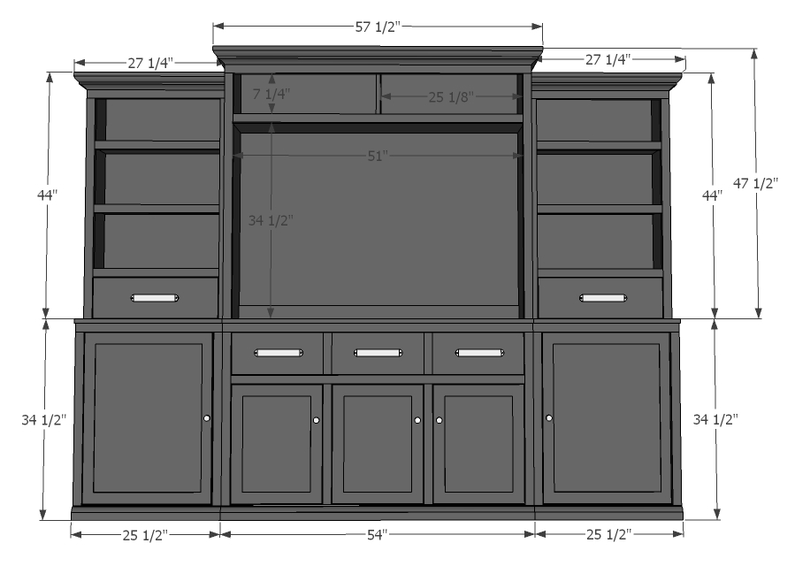 media suite project plans dimensions