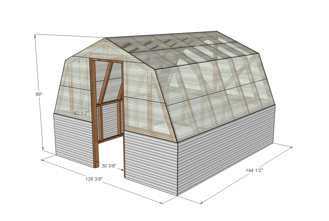 Crav barn style greenhouse plans for Plans for a barn