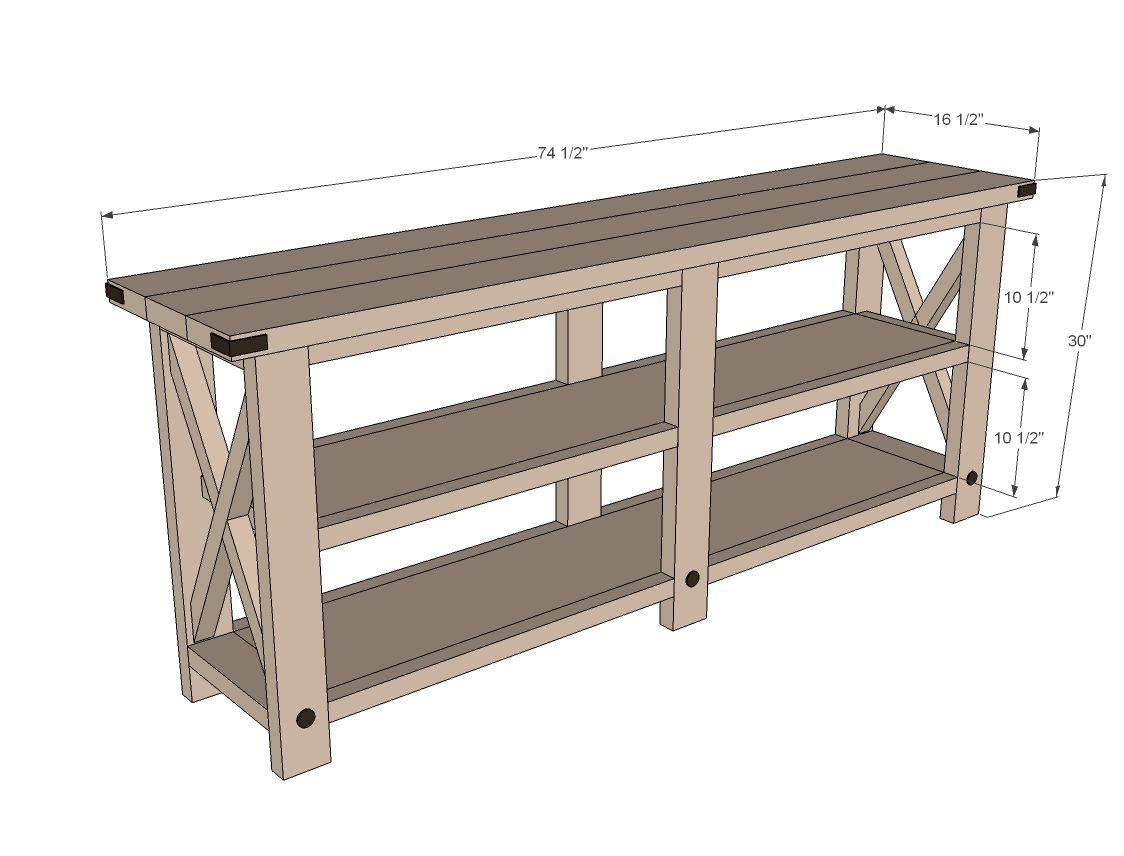 rustic x bench plans dimensions diagram