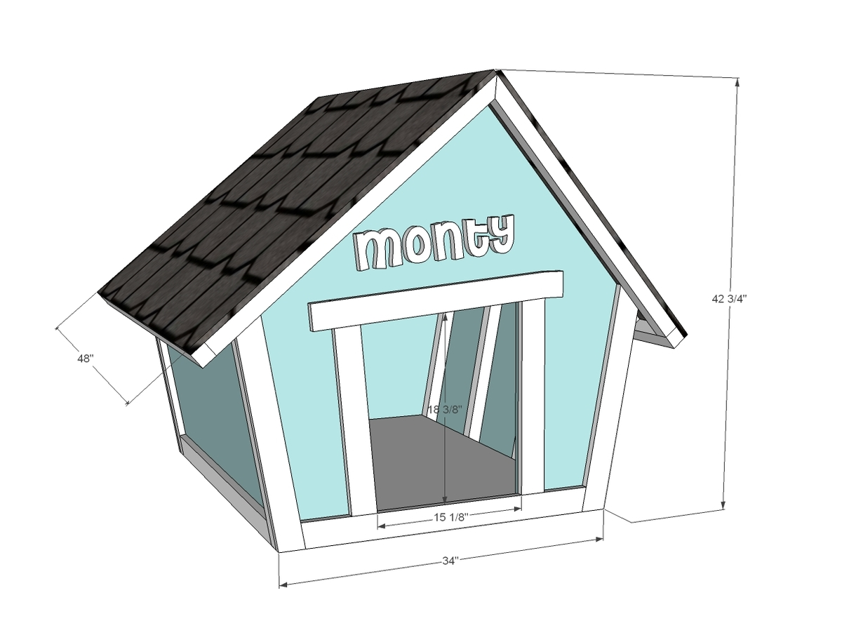 How to make everything 6 free dog house plans - Dog house images free ...