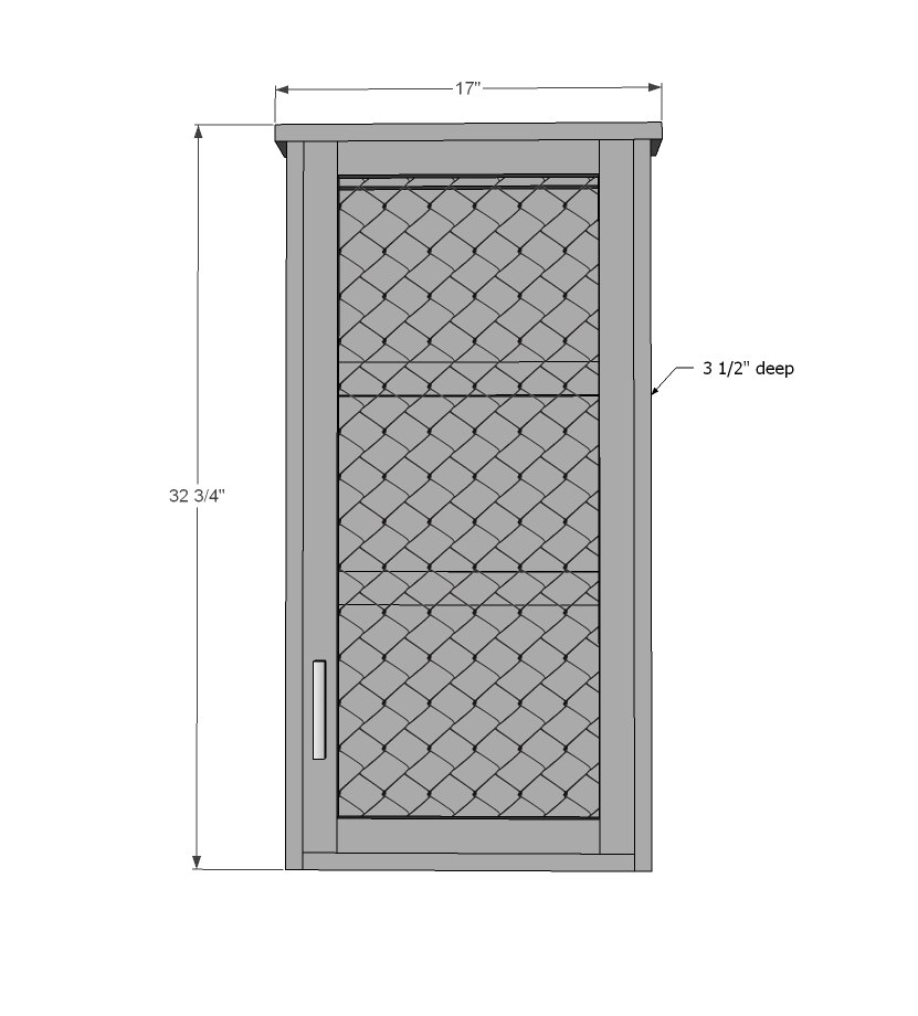 farmhouse wall jewelry cabinet plans