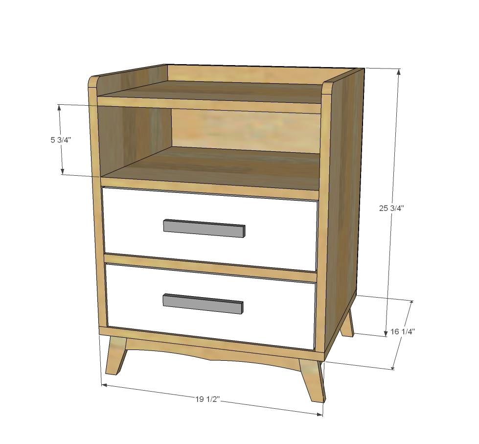 Night Stand Designs Free : Ana white two drawer shelf modern nightstand diy projects