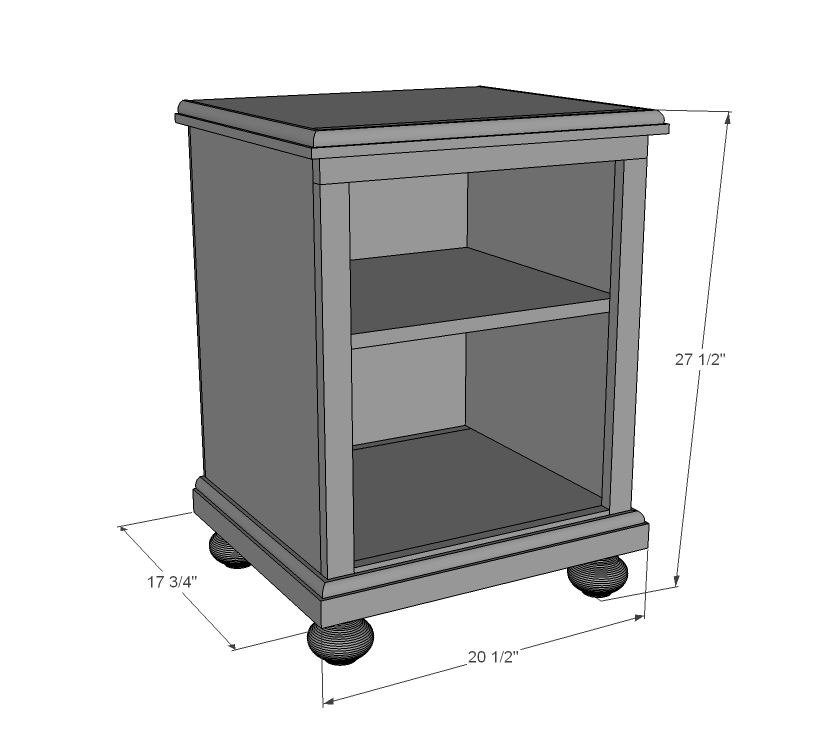 Download nightstand plans plans free for Nightstand plans